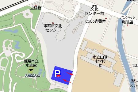 手柄山第1立体駐車場マップ画像