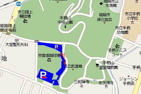 野球場東駐車場マップ画像