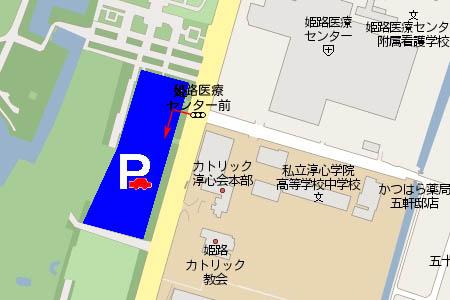 姫山駐車場マップ画像