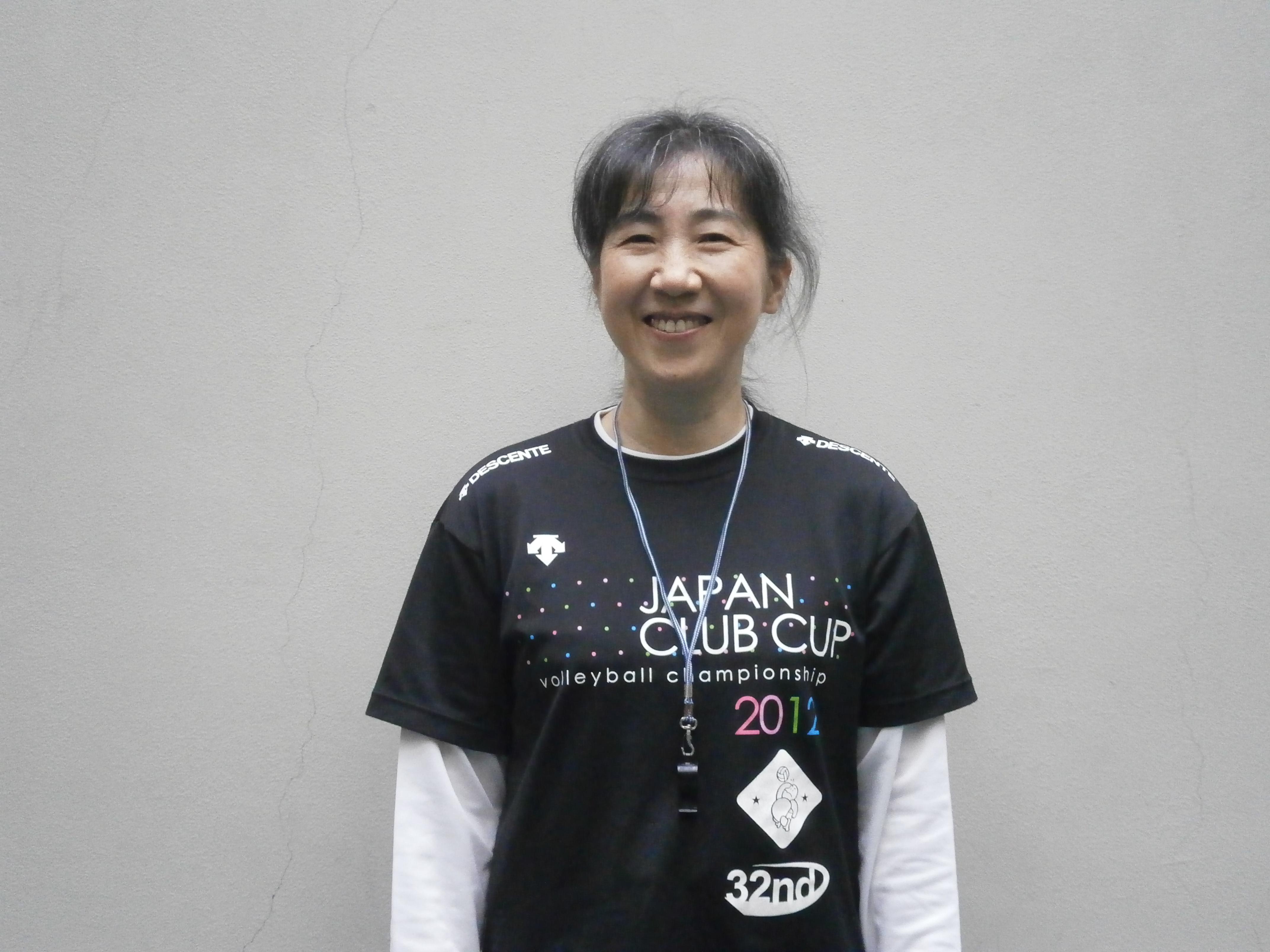 婦人バレー教室 国方 道子 講師写真