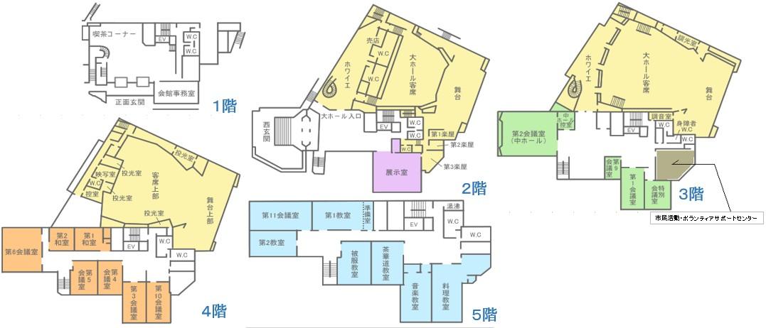 姫路市市民会館館内図