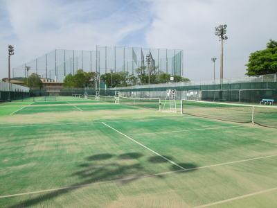 姫路書写テニスコート砂入り人工芝コート7面画像