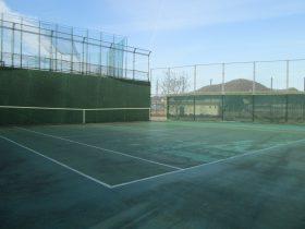 姫路書写テニスコート練習用壁打画像